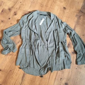 Ark and Co jacket blouse